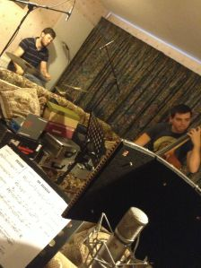 In the studio with the quartet...with Ric Yarborough (Drums) and Tom Baxter (Bass)